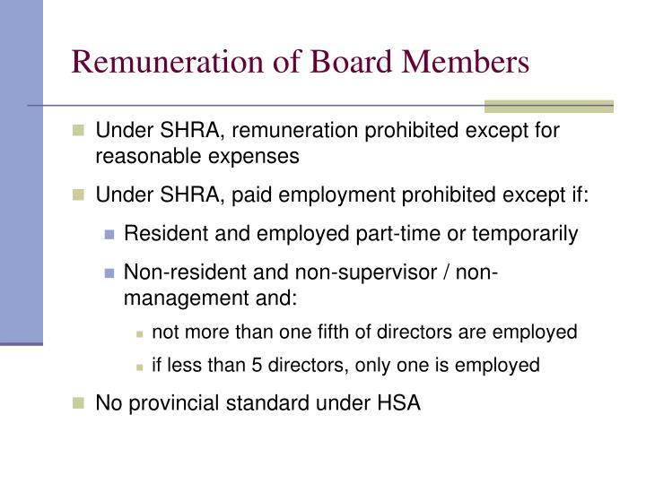 Remuneration of Board Members