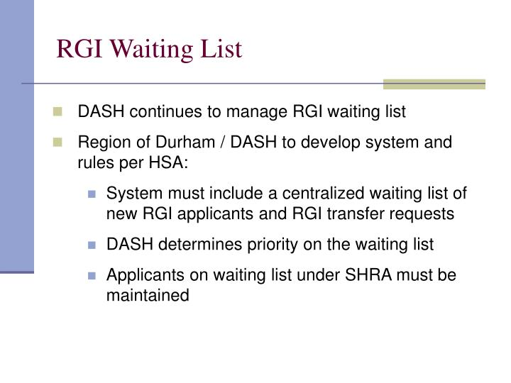 RGI Waiting List