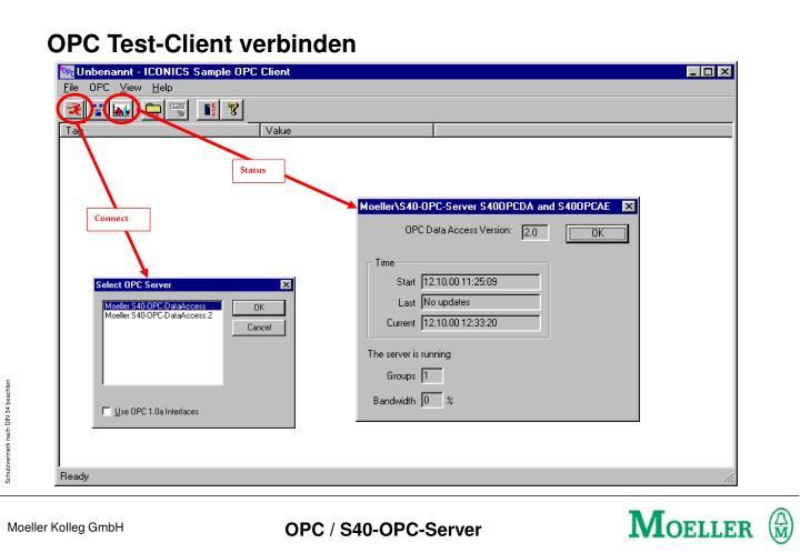OPC Test-Client verbinden