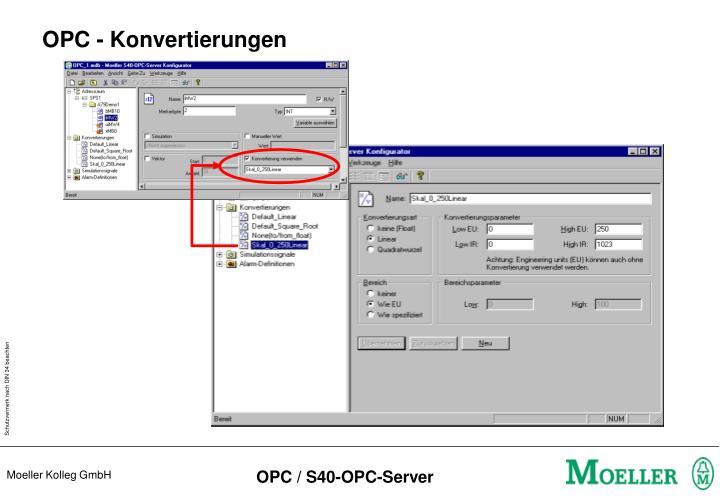 OPC - Konvertierungen