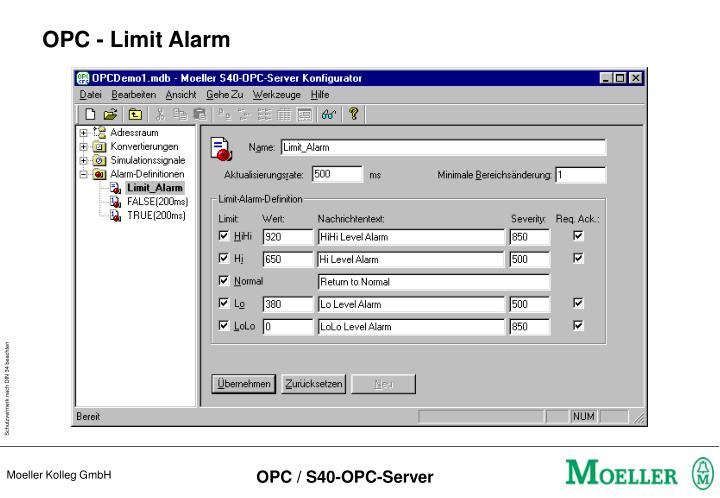 OPC - Limit Alarm