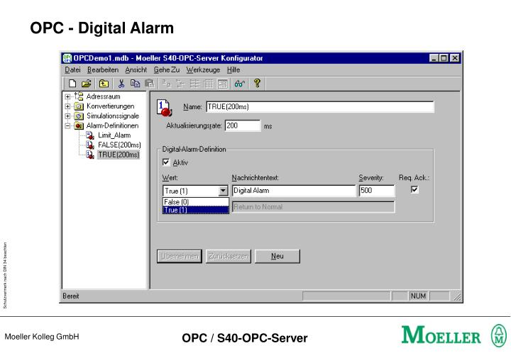 OPC - Digital Alarm