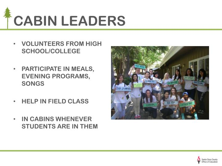 CABIN LEADERS