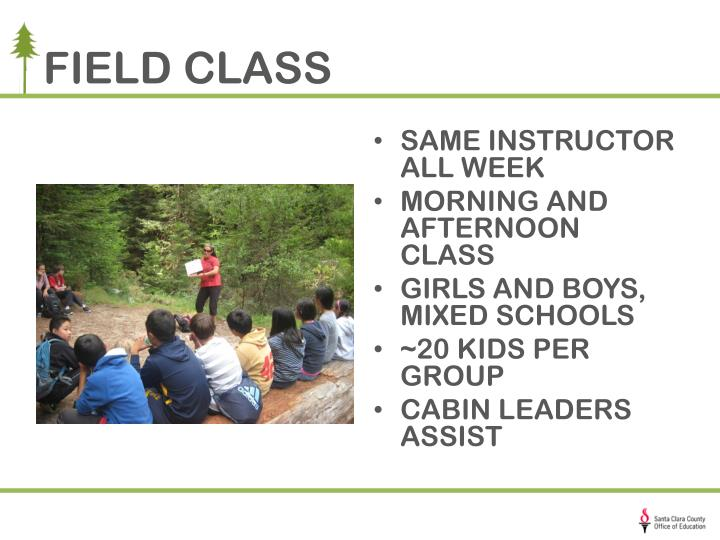 FIELD CLASS