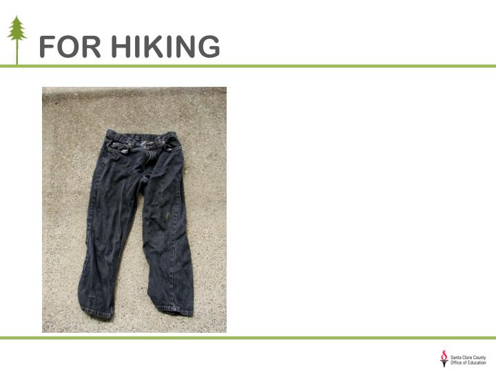 FOR HIKING