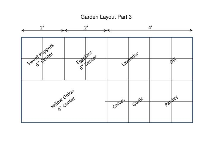 Garden Layout Part 3