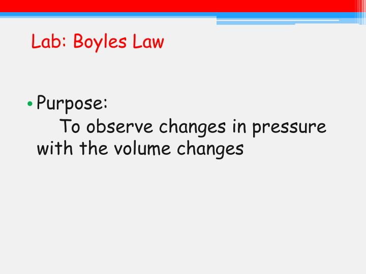 Lab: Boyles Law
