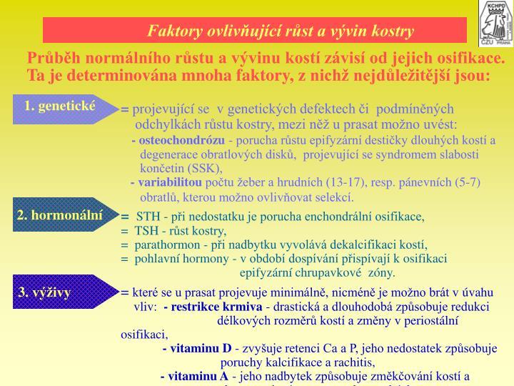 Faktory ovlivujc rst a vvin kostry