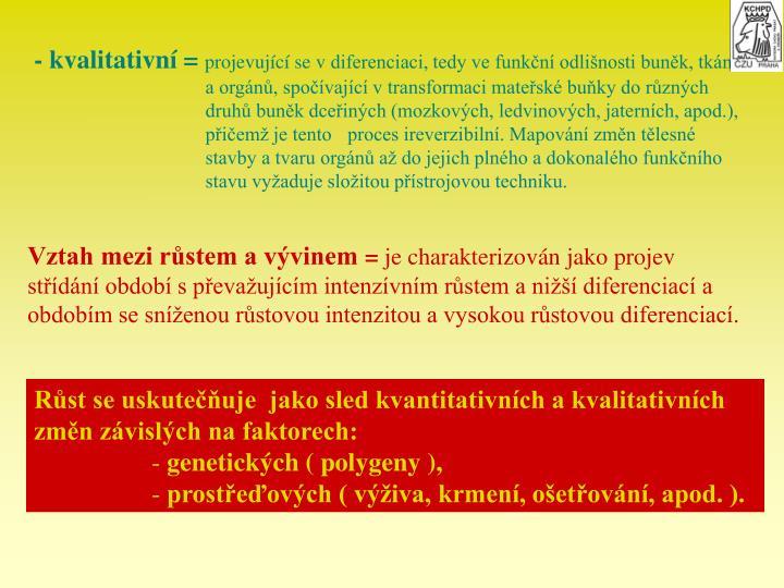 - kvalitativn =