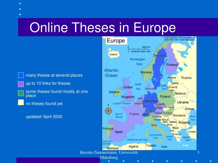 Online Theses in Europe