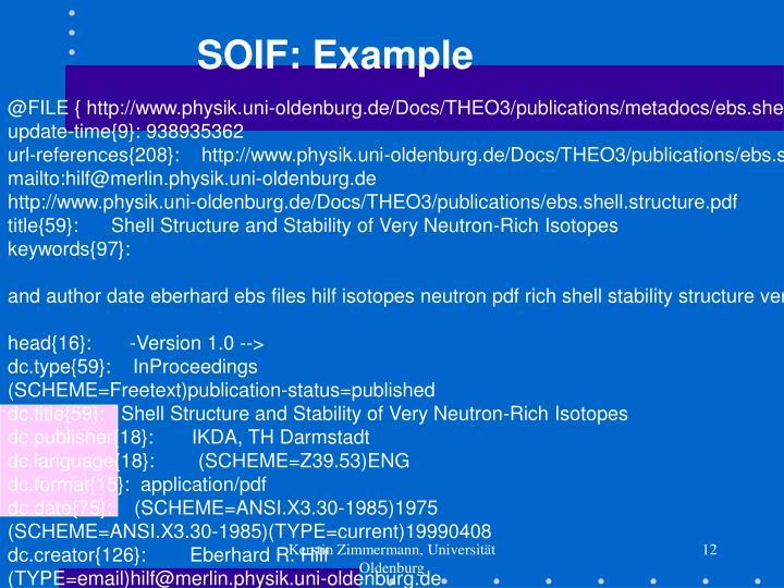 SOIF: Example