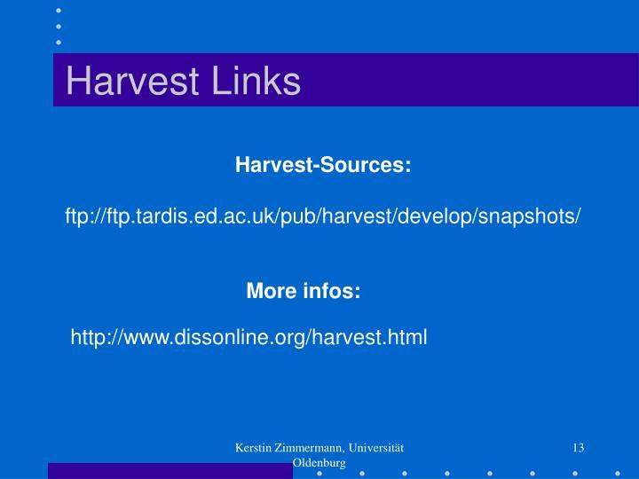 Harvest Links