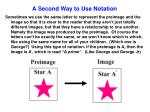 a second way to use notation