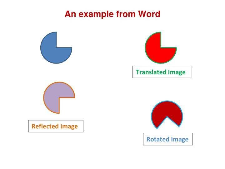 An example from Word