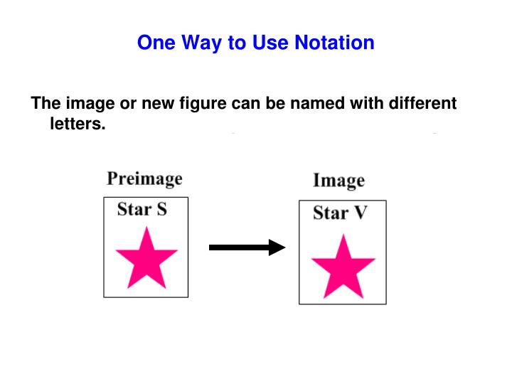 One Way to Use Notation