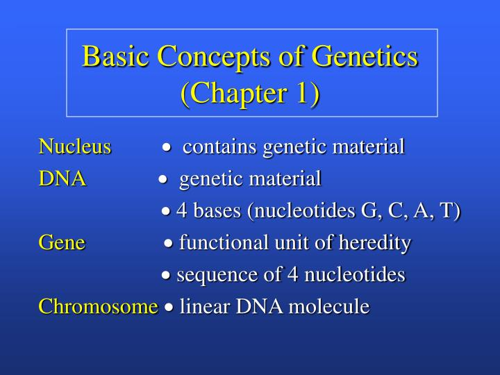 Basic Concepts of Genetics