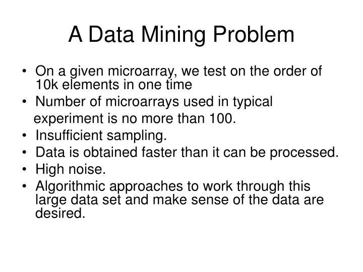 A Data Mining Problem
