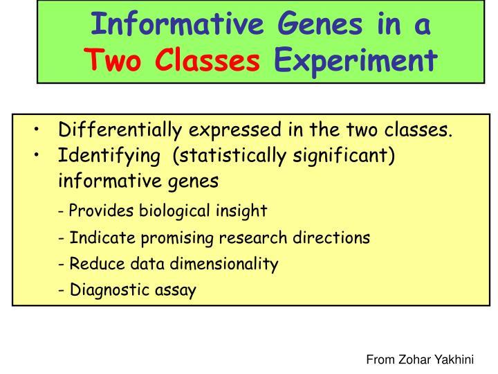 Informative Genes in a