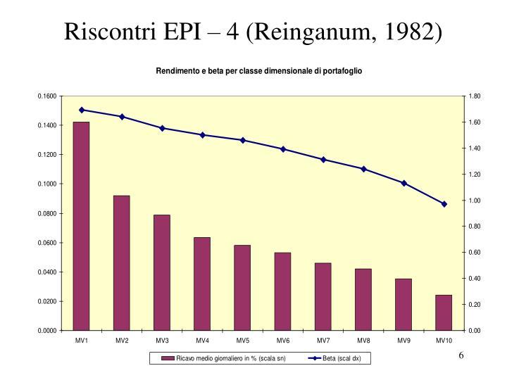 Riscontri EPI – 4 (Reinganum, 1982)