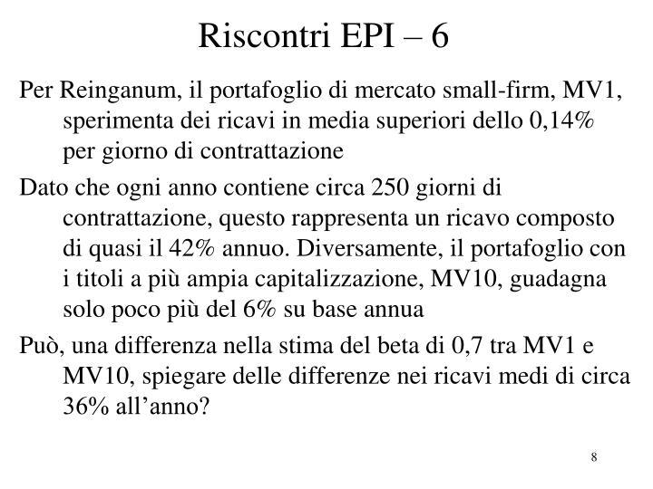 Riscontri EPI – 6