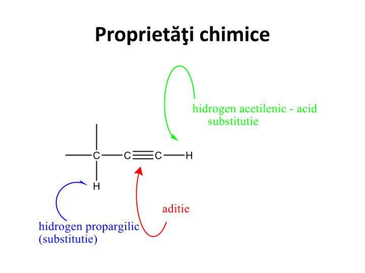 Proprietăţi chimice