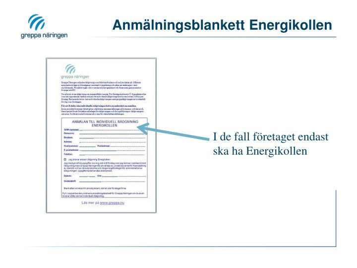 Anmälningsblankett Energikollen