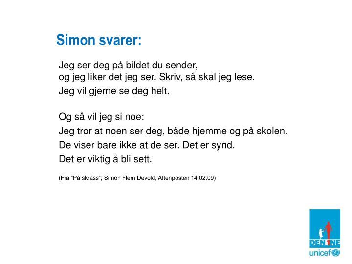 Simon svarer: