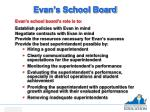 evan s school board
