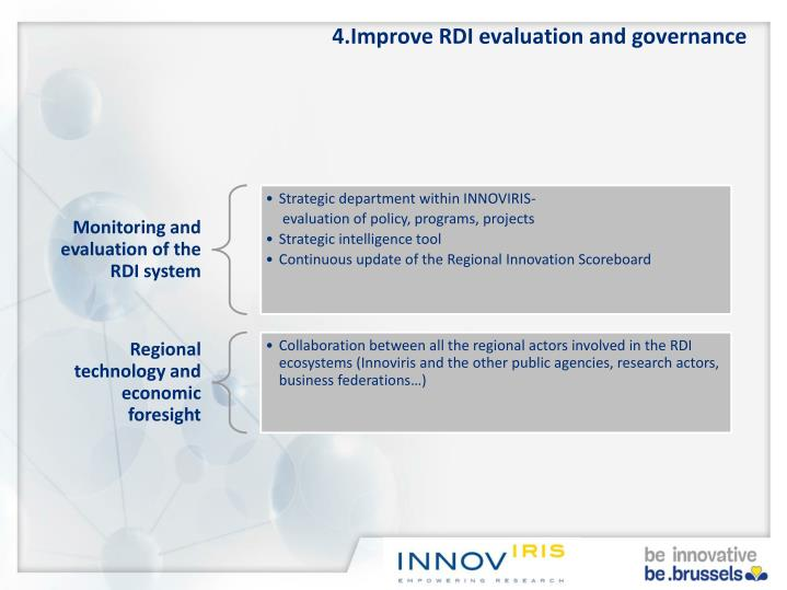 4.Improve RDI evaluation and governance