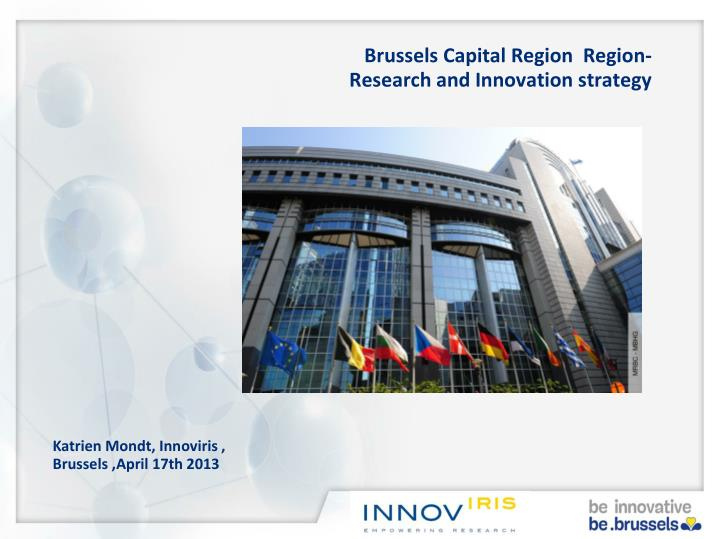 Brussels capital region region r esearch and innovation strategy