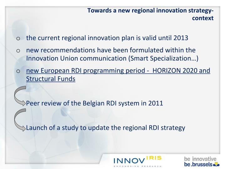 Towards a new regional innovation strategy-