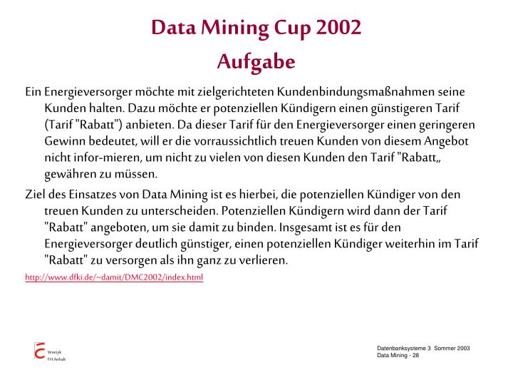 Data Mining Cup 2002