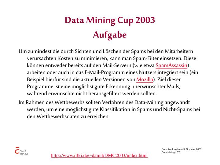 Data Mining Cup 2003