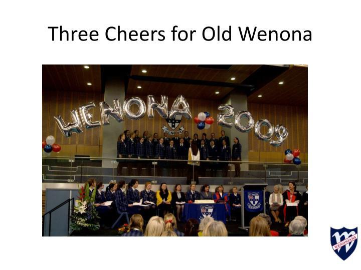 Three Cheers for Old Wenona