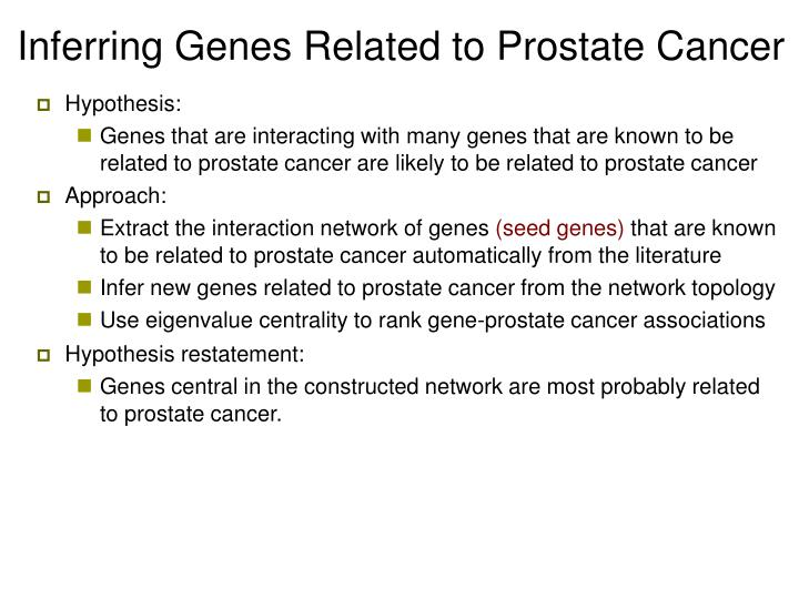Inferring Genes Related to Prostate Cancer