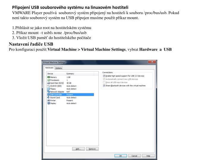 Připojení USB souborového systému na