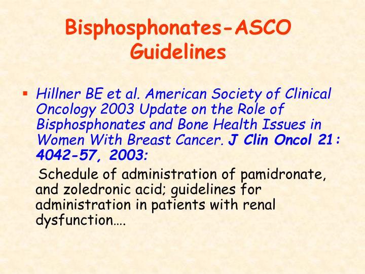 Bisphosphonates-ASCO Guidelines
