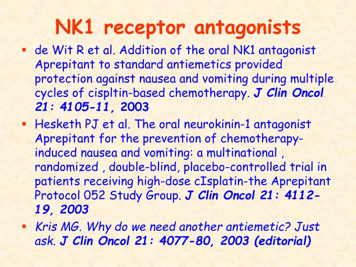 NK1 receptor antagonists