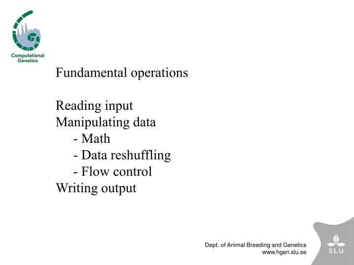 Fundamental operations
