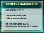 company backgroud