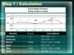 step 1 calculation