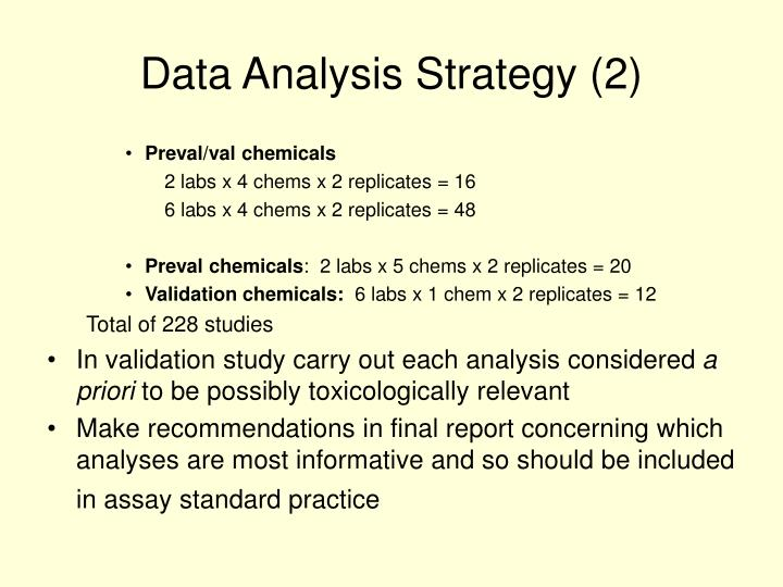 Data Analysis Strategy (2)