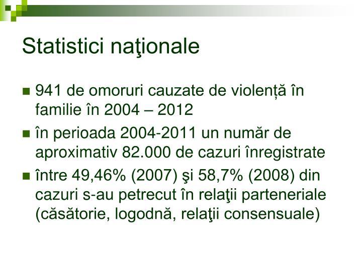 Statistici naţionale