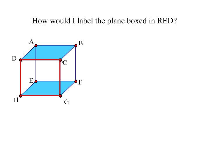 How would I label the plane boxed in RED?