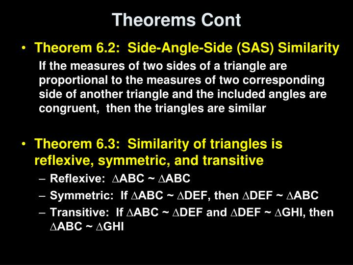 Theorems Cont