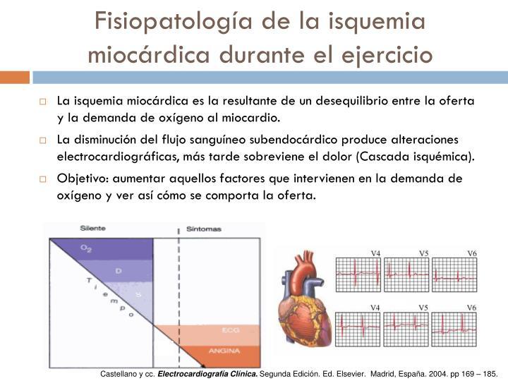 Fisiopatología de la isquemia miocárdica durante el ejercicio