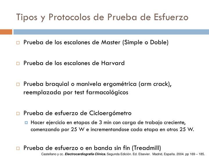 Tipos y Protocolos de Prueba de Esfuerzo
