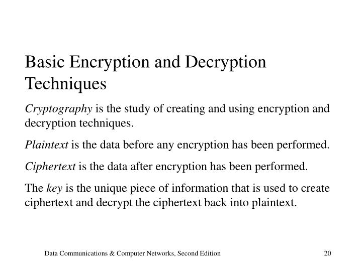 Basic Encryption and Decryption Techniques
