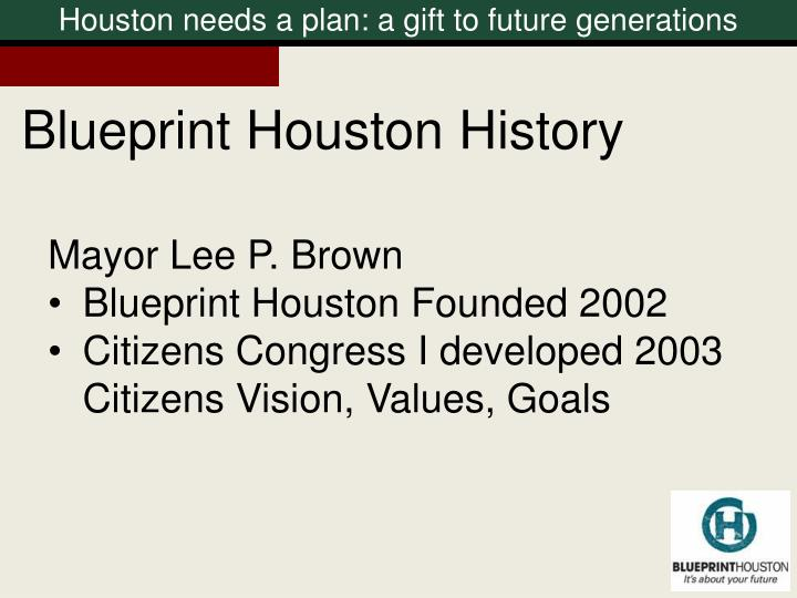 Blueprint Houston History