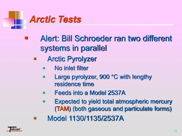 Arctic Tests
